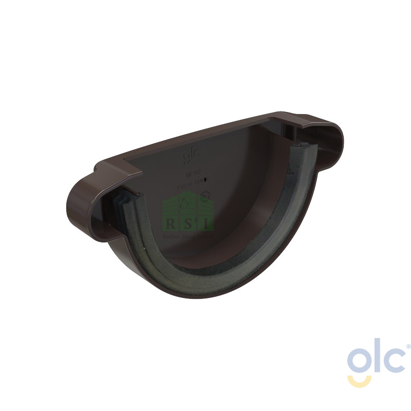 Заглушка желоба GLC (универсальная, коричневая)