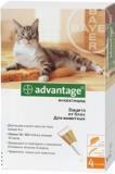 Advantage Адвантейдж инсектицидный препарат для кошек до 4 кг, 4 пипетки