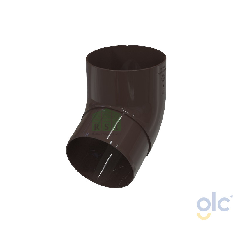 Колено трубы 67° GLC (коричневое)