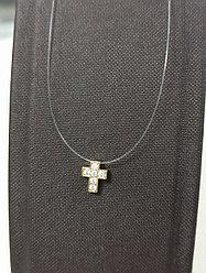 Колье на леске «крест с фианитами» 40 см