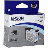 Картридж струйный Epson C13T580500 LightCyan для Stylus Pro 3800 Ink, 80ml, светло-голубой