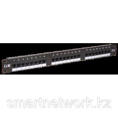 1U патч-панель кат.5Е UTP, 24 порта (Dual)