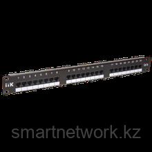 1U патч-панель кат. 5Е UTP 24 порта (Dual) с кабельным органайзером
