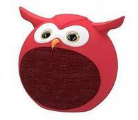 Колонки Ritmix ST-110BT Owl (1.0) - Red, 3Вт, 100Hz-20kHz, BT, USB, Line-in