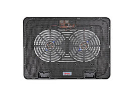 "Подставка для ноутбука Buro BU-LCP156-B214H, Черный USB power, 2x14cm LED, up to 15.6"", black"