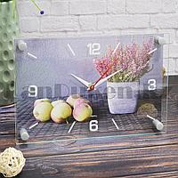 Настенные часы Рубин 2030-28 Лаванда и яблоки 30 на 20 см