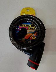 Противоугонный трос металлический с ключом для велосипеда. Рассрочка. Kaspi RED