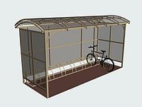 Велопарковка (велопаркинг) на 7 мест с крытой крышей