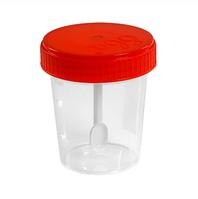 Контейнер д/биопроб полимерный 60мл н/стер. со шпателем в инд.уп. | Полимерные изделия, 10%