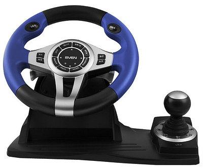 Руль Sven GC-W600, черный+синий+серый