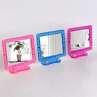 Зеркало складное-подвесное, с рамкой под фотографию, зеркальная поверхность 11 × 9 см, МИКС