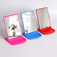Зеркало настольное, с рамкой под фото, зеркальная поверхность 10,2 × 13,5 см, МИКС