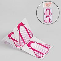 Формы для ногтей «Пчёлки», 10 шт, цвет белый/розовый