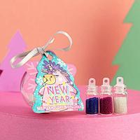 Набор бульонок для декора ногтей Unicorn New Year, 3 цвета