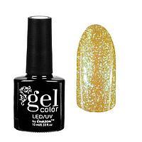 "Гель-лак для ногтей ""Горный хрусталь"", трёхфазный LED/UV, 10мл, цвет 004 жёлто-голубой"