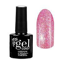 "Гель-лак для ногтей ""Горный хрусталь"", трёхфазный LED/UV, 10мл, цвет 006 розово-фиолетовый"