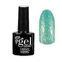 """Гель-лак для ногтей """"Горный хрусталь"""", трёхфазный LED/UV, 10мл, цвет 005 светло-зелёный"""