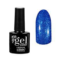 """Гель-лак для ногтей """"Горный хрусталь"""", трёхфазный LED/UV, 10мл, цвет 012 синий"""