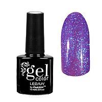 "Гель-лак для ногтей ""Горный хрусталь"", трёхфазный LED/UV, 10мл, цвет 010 фиолетовый"