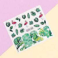 Наклейки для ногтей водные «Tropical print»