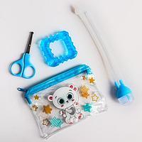 Набор маникюрный детский «Для Малыша», 3 предмета: ножнички, аспиратор, прорезыватель