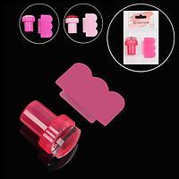 Набор для стемпинга, 2 предмета, цвет розовый
