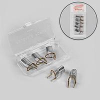 Формы для наращивания ногтей многоразовые, 5 шт, цвет серебристый