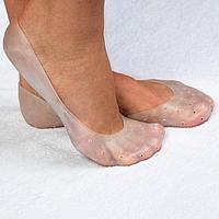 Носочки для педикюра, силиконовые, цвет белый