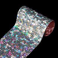 Переводная фольга для декора «Круги», 4 × 50 см, цвет серебристый