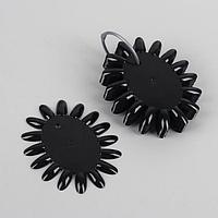 Палитра для лаков «Овал», 10 шт по 16 ногтей, цвет чёрный