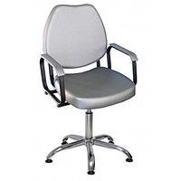 Кресло парикмахерское Соло пневматика, пятилучье, цвет чёрный 600х650 мм