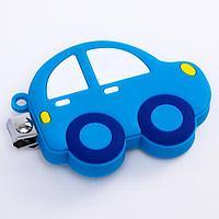 Детские, маникюрные щипчики - книпсеры «Машинка» с резиновой игрушкой