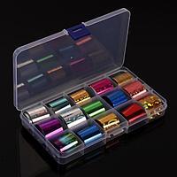 Набор переводной фольги для дизайна ногтей, 2,5 × 100 см, 15 шт, цвет разноцветный