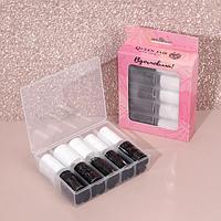 Набор переводной фольги для дизайна ногтей «Вдохновляй», 4 × 100 см, 10 шт, цвет белый/чёрный