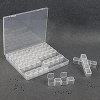 Контейнер для декора, 14 блоков, 4 ячейки, 21 × 17,5 × 2,7 см, цвет прозрачный