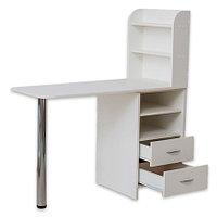 OKIRO, Маникюрный стол с тумбой на 2 полки, белый