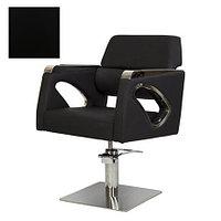 Мэдисон, Кресло парикмахерское «МД-311» гидравлическое, хромированное, черное