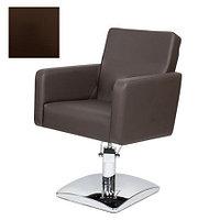 Мэдисон, Кресло парикмахерское «МД-165» гидравлическое, хромированное, коричневое