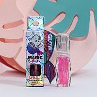 """Блеск для губ """"Mermaid Gloss"""" с эффектом увеличения объёма губ, оттенок фуксия, 3 мл"""