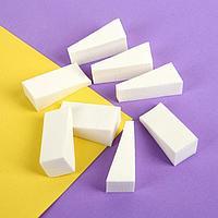 Набор спонжей для нанесения косметики, 5 × 2 см, 8 шт, цвет белый