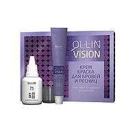 Комплект для окрашивания бровей и ресниц Ollin Professional Vision, графит, 2 шт. по 20 мл