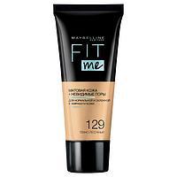 Тональный крем Maybelline Fit Me Матовая кожа, невидимые поры, тон 129 Темно-песочный, 30мл 711856 ...