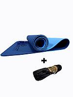 Коврики для йоги ART.FiT (61х183х0.6 см) TPE, с чехлом, цвета в ассортименте сине-голубой