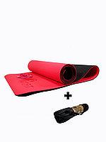 Коврики для йоги ART.FiT (61х183х0.6 см) TPE, с чехлом, цвета в ассортименте красно-черный