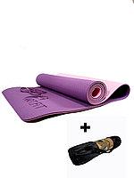 Коврики для йоги ART.FiT (61х183х0.6 см) TPE, с чехлом, цвета в ассортименте фиолетово-розовый