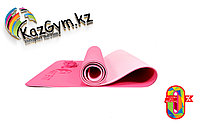 Коврики для йоги ART.FiT (61х183х0.6 см) TPE, с чехлом, цвета в ассортименте розово-розовый