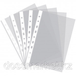 Файл - вкладыш, прозрачный, 60 мкр. Dolphin 100 штук/пачка