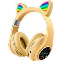 Наушники беспроводные со светящимися ушками Cat Ear M2 (Желтый)