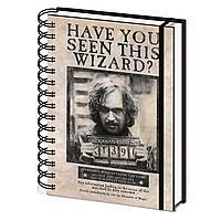 Записная книжка Harry Potter (Wanted Sirius Black) A5 Wiro SR72252