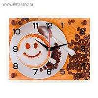 """Часы настенные, серия: Кухня, """"Кофе"""", 20х26 см микс"""
